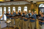 Methodist Men of Note sing during lunch