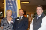From left to right, Cheryl Julo, President of Lee's Summit Downtown Rotary, Mark Dickey, President of Lee's Summit Rotary, Chad Waldo, President of Lee's Summit Sunrise Rotary.